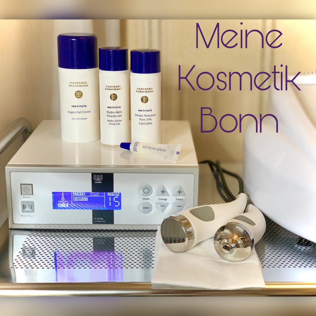 Silbern glänzendes Gerät und Kosmetika von Hildegard Braukmann in Tuben.